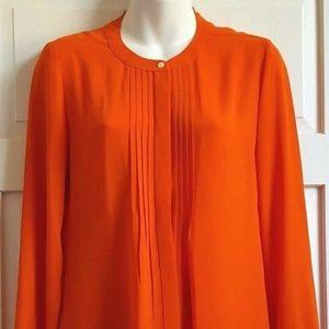 Banana Republic Orange Long Sleeved Blouse